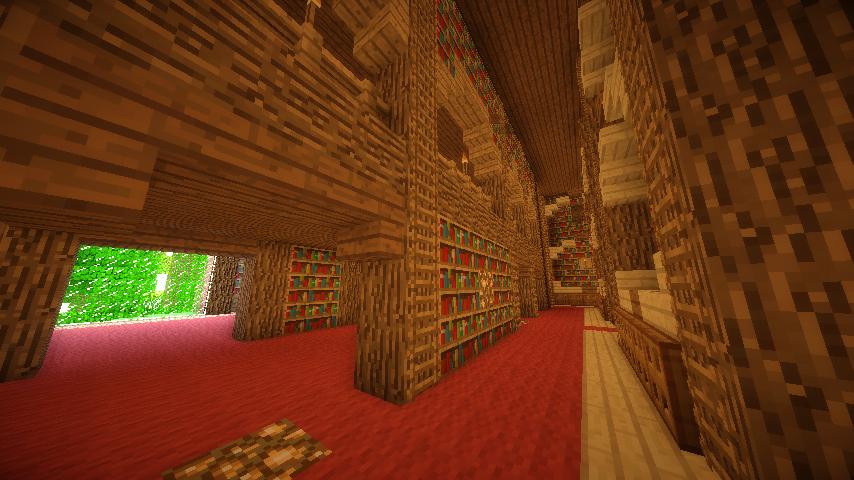 On raconte que cinquante nuances de grey serait caché dans l'aile nord de cette bibliothèque.