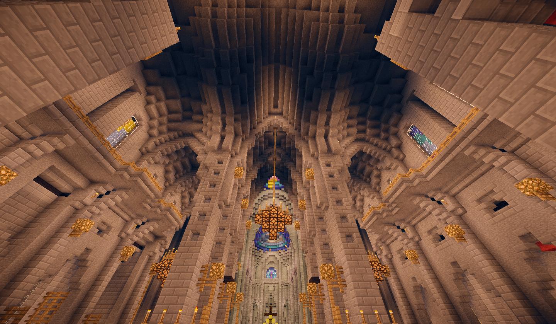 L'intérieur de la cathédrale de Vaalon