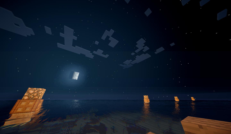 Lever de lune sur les balises