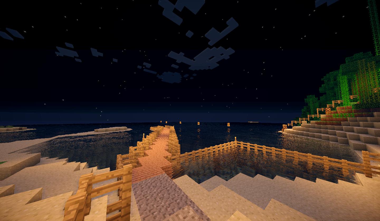 Le ponton dans la nuit