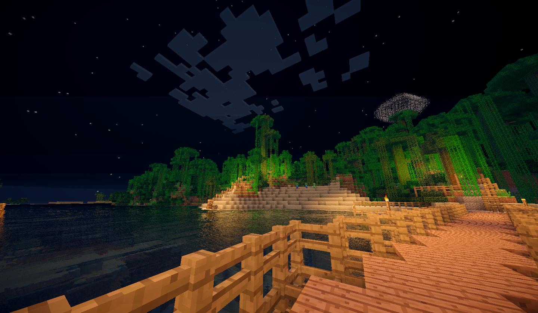 Vue sur la jungle depuis le ponton