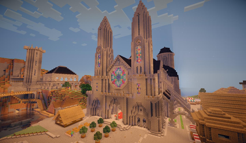Crépuscule sur la cathédrale